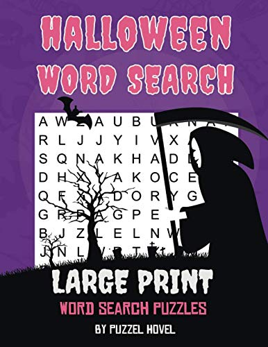 Halloween Word Search: Large Print Word Search Puzzles (Holiday Word Search Books) -