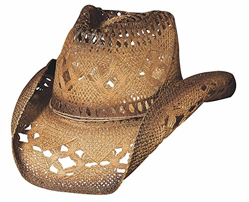 Scorched Vented Woven 2 Tone Western Cowboy Hat Shapeable ()