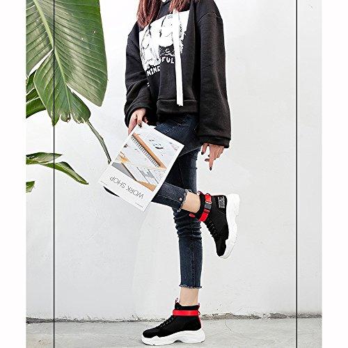La Shoes Xiaolin Deporte Fire White Negro Calzado Grueso De Small Super Zapatillas Coreana Versión xI1IqHw