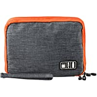 P.KU.VDSL Universal Electronic Organizers, Double Layer Versatile Travel Gear Electronics Accessories Organizer, Anti-shock Hard Drive Bags, Waterproof Organizer Bag For Cable, Charge, iPad And Phone