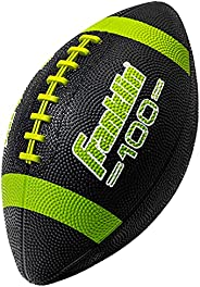 Franklin Sports Grip-Rite 100 Rubber Junior Football - Lime