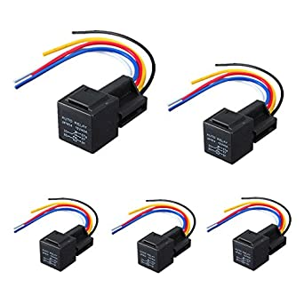 Amazon.com: Fincos AUTO 5pcs 12V 30/40 A Amp Car Auto Relay ... on