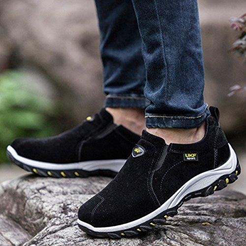 Gracosy Slip On Sneaker, Scarpe Da Trekking Casual Da Uomo Outdoor Antiurto, Antiscivolo, Scarpe # 2 Nere
