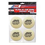 A&R Sports Pro Series Glow in The Dark Hockey Balls, 4 Pack