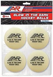 A&R Sports Pro Series Glow in The Dark Hockey Balls, 4