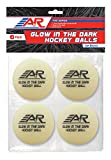 A&R Sports Pro Series Glow in the Dark Hockey Balls - 4 Pack