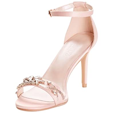 49eef702d6 Jeweled Strappy Heels Style TEGHAN, Light Pink, 6: Amazon.co.uk ...