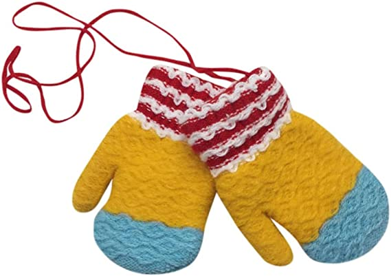 CUSHY New 1 Pair y Girl Boy Children Cotton Cute triped Winter Warm Glove With tripe no27 A