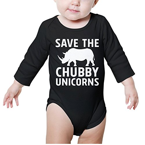Kijhsaa Save The Chubby Unicorns Infant Boys Girls Long Sleeve Baby Onesie Baby Jumpsuit