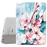 """MoKo iPad Air 2 Case - Slim Lightweight Smart Shell Stand Cover with Translucent Frosted Back Protector for iPad Air 2 9.7"""" Tablet, Peach Blossom (with Auto Wake / Sleep, Not fit iPad Air)"""