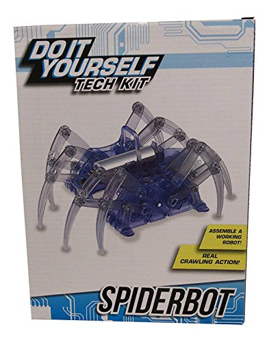 DIY Tech Model Kit - Spiderbot - Robot Spider with Real Crawling Action (Jumbo White Bunny Kit)