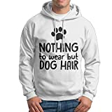 ZW&LC Men's Nothing To Wear But Dog Hair Cotton Pullover Hoodie Cozy Sport Outwear