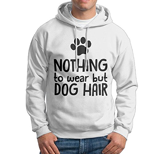 ZW&LC Men's Nothing To Wear But Dog Hair Cotton Pullover Hoodie Cozy Sport Outwear by ZW&LC