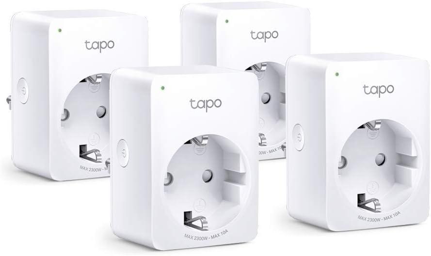 Bombilla Inteligente Wi-Fi WiFi Enchufe Inteligente Mini tama/ño 4-pack IP C/ámara Vigilancia Wifi Interior TP-Link Tapo P100