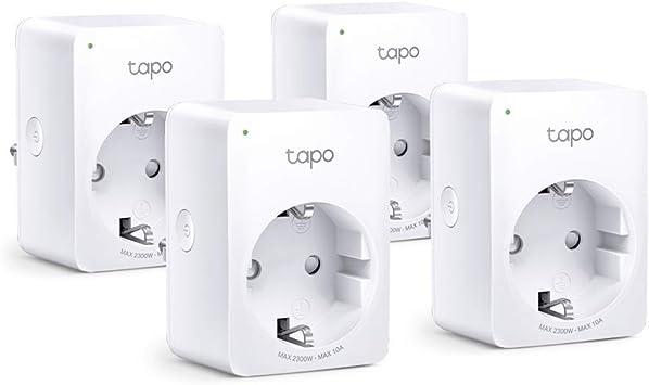 TP-Link Tapo P100 4-pack - WiFi Enchufe Inteligente Mini tamaño para Controlar su Dispositivo Desde Cualquier Lugar, sin Necesidad de Concentrador, Funciona con Amazon Alexa y Google Home: Amazon.es: Informática