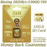Amplim 256GB UHS-II SDXC SD Card. Blazing Fast Read 282MB/S (1900X). Class 10 U3 Ultra High Speed V60 UHSII Extreme Pro SD XC Memory Card. 4K 8K Professional Video 256 GB / 256G TF Flash. New 2018