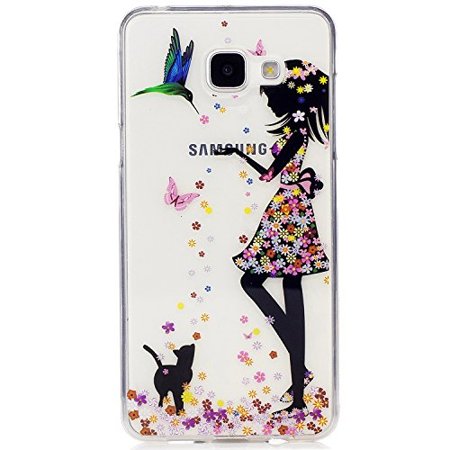 Ecoway Samsung Galaxy A5 2017/A520 TPU Funda , Altamente Transparente Antideslizante Suave Resistente a Los arañazos TPU Contraportada Funda de Carcasa Funda Bumper Para Samsung Galaxy A5 2017/A520 -  chica