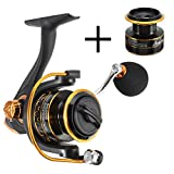 BOBING Spinning Fishing Reel 5.2:1 10+1BB Metal Spool Wheel – Smooth Drag Casting – Left/Right Interchangeable Hand – Freshwater Saltwater Fishing – 1000 2000 3000 4000 Series + FREE Cup 1000 Series Review