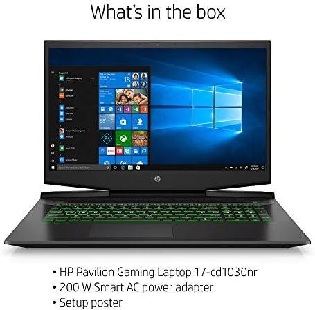 HP Pavilion Gaming Laptop 17-inch, Intel Core i7, NVIDIA GeForce GTX 1660 Ti with Max-Q, 16 GB RAM, 256 GB SSD, Windows 10 Home (17-cd1030nr, Shadow Black) 51kQxW38KWL