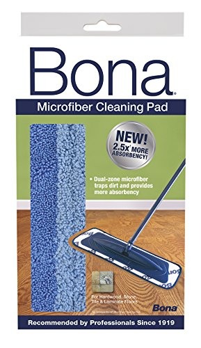 Bona Microfiber Cleaning Pad (Packaging May Vary) - Bona Kemi Hardwood Floor Mop