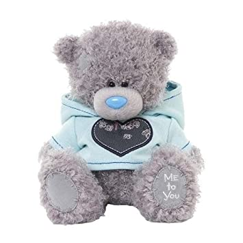 me to you 6 inch tatty teddy bear wearing a cute hoodie sits grey - Peluche Me To You