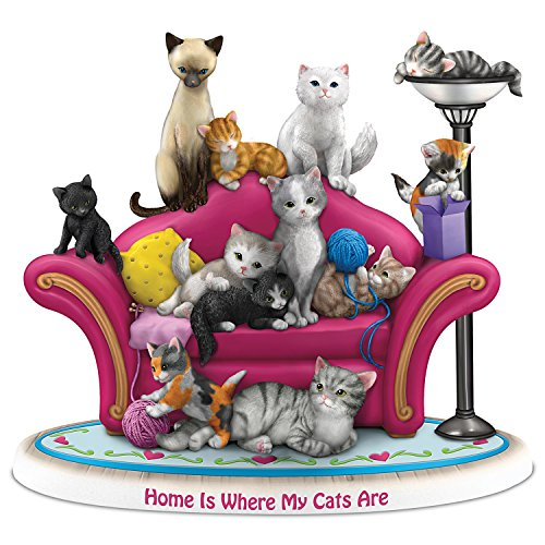 The Hamilton Collection Blake Jensen Home is Where My Cats are Figurine by Hamilton Collection