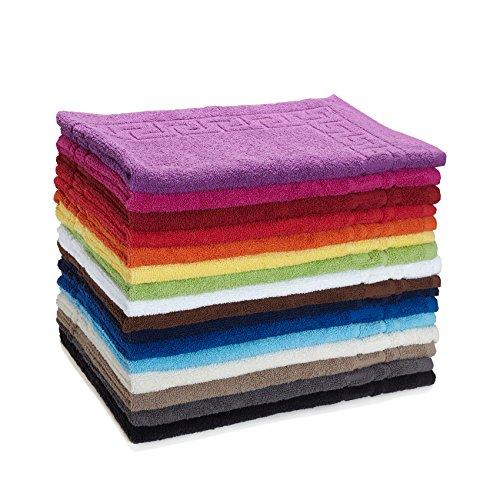 Frottier Handtuch-Serie - in 6 Größen und 16 Farben für Sie verfügbar, Duschvorleger (50x70cm) in Türkis