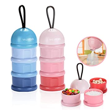 5f8fe0076e22 Milk Powder Formula Dispenser, Baby Stackable Snack Storage Containers,  Leak Free, 3...