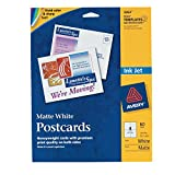 Avery Postcards for Inkjet Printers, 5.5 x 4.25 Inches, White, Pack of 60 (3263)