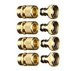 quick connect water fittings - GORILLA EASY CONNECT Garden Hose Quick Connect Fittings. ¾ Inch GHT Solid Brass. (4)