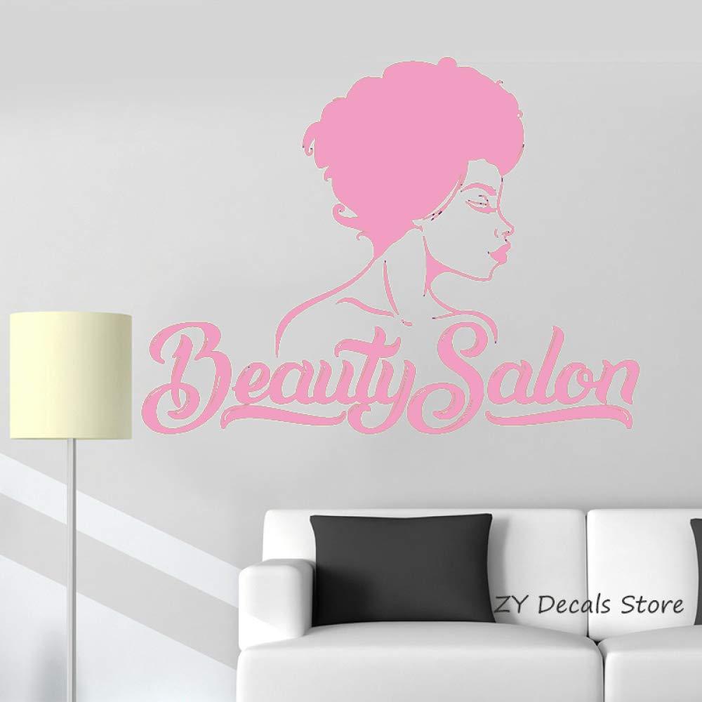 Salón de belleza Tatuajes de pared Hermosa mujer Tienda Interior ...
