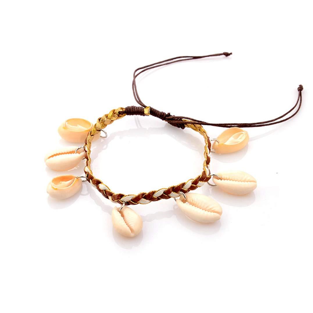 Style2 Underleaf Bohemia Women Shell Beach Tassel Foot Anklet Bracelet Charm Jewelry
