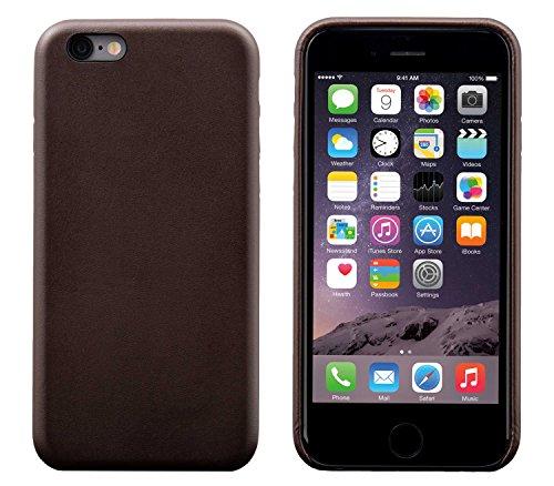 iPhone 6 Plus / 6S Plus Backcover-Case, FUTLEX Klassischen Stil Case aus echtem Leder - Kaffee - Ultra Slim - Präziser Zuschnitt und Design - Handgefertigt