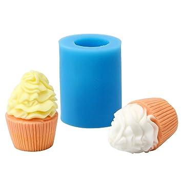 Nicole r1786 silicona jabón molde 3d helado formas DIY hecho a mano jabón molde para hacer velas: Amazon.es: Juguetes y juegos