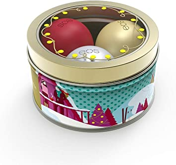 Eos Limited Edition Holiday 2018 Lip Balm Set Of 3 First Snow Fireside Chai Pomegranate Raspberry