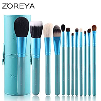 Amazon.com: Zoreya exclusivo juego de brochas de maquillaje ...