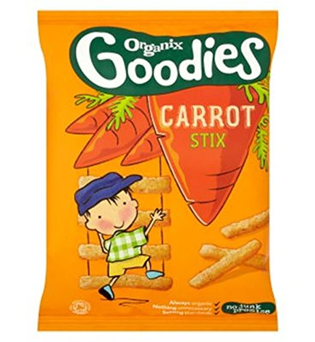 Organix Goodies Organic Carrot Stix For Toddlers From 12+ Months 15G - Pack of 2