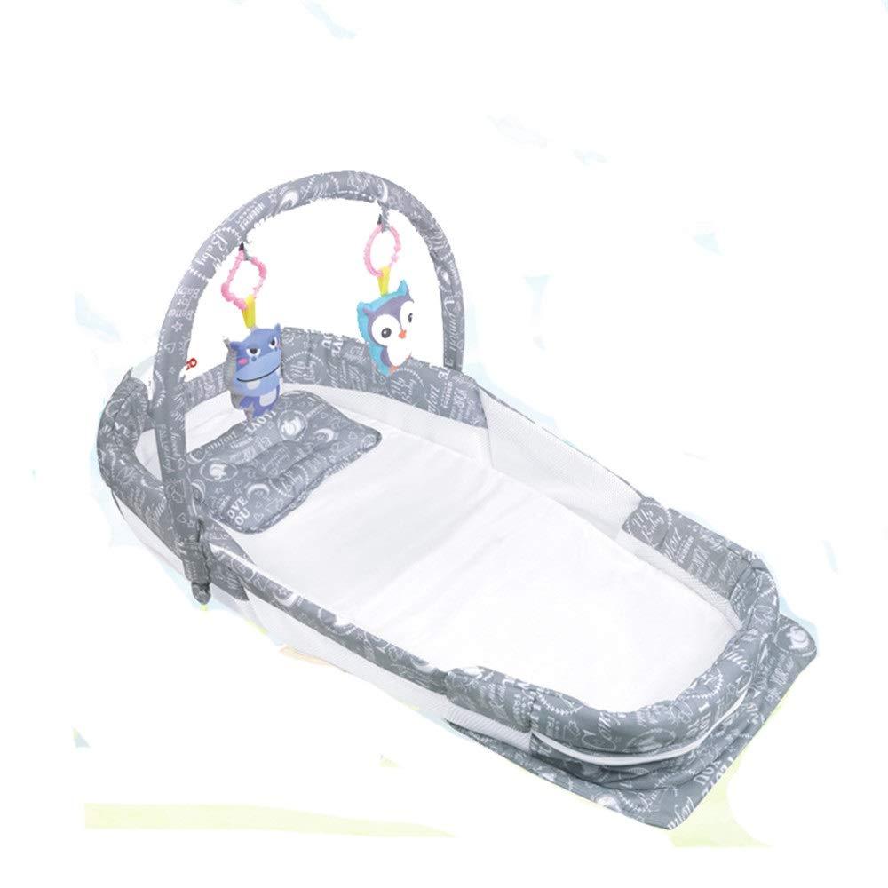 【上品】 ベビースリーパーベッド ベッドのための共同眠る赤ちゃんの巣のベビーベッド寝室旅行のための折り畳み式の綿のベビーベッド音楽ナイトライト付き蚊帳0-24ヶ月に適した蚊帳マットレスシート (色 サイズ : グレー, サイズ : 86 (色 B07QQPK3DN*48*15cm) 86*48*15cm グレー B07QQPK3DN, アトラス:bb339d54 --- a0267596.xsph.ru