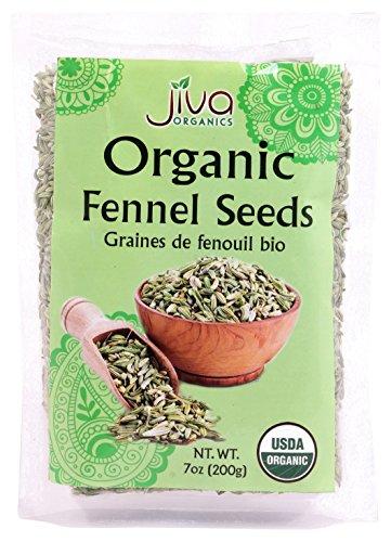 Organic Fennel Seeds (Foeniculum Vulgare), 7 oz - Non GMO - Supports Digestion & Bloating - by Jiva Organics (Best Fennel Bulb Recipes)