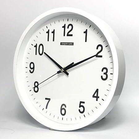 LZLXX Hora Radio Control Exterior y jardín Interior Reloj, Oficina y Sala Reloj de Pared@Blanco: Amazon.es: Hogar