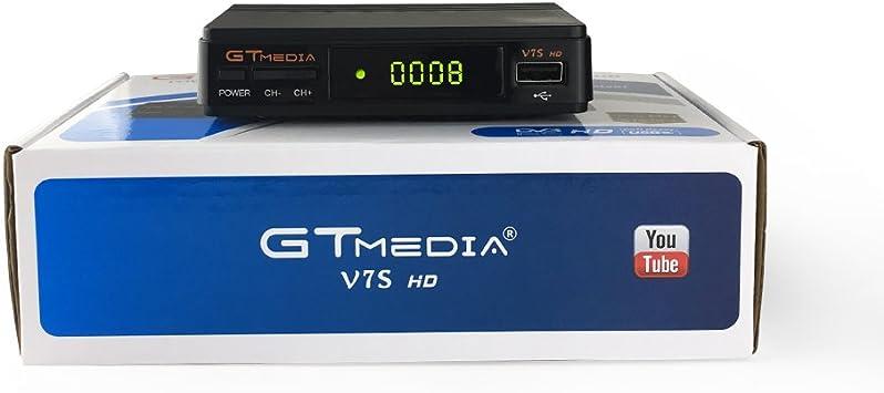 GTMEDIA V7S HD actualizacion del v7hd DVB-S2 Receptor de TV Retransmisión de video digital Receptor de 1080P HD Receptor de TV USB EPR para TV HDHDT
