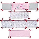 Just Born Crib Bumper, Antique Chic in Floral Pink