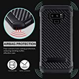 YCFlying Galaxy Note 9 Case Shockproof Dual Layer Protective Defender Anti-Shock and Anti-Slip Protective Case with Hard PC Soft TPU for Samsung Galaxy Note 9 Black (Note9 1)