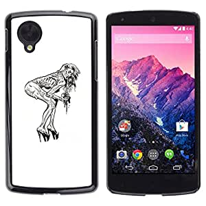 // PHONE CASE GIFT // Duro Estuche protector PC Cáscara Plástico Carcasa Funda Hard Protective Case for LG Nexus 5 D820 D821 / Pin Up Zombie /
