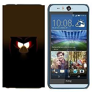 EJOOY---Cubierta de la caja de protección para la piel dura ** HTC Desire Eye M910x ** --Malvada divertida del pájaro