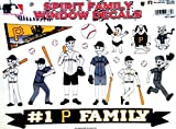 MLB Pittsburgh Pirates Spirit Family Decal Sheet, 8.5 x 11-inches