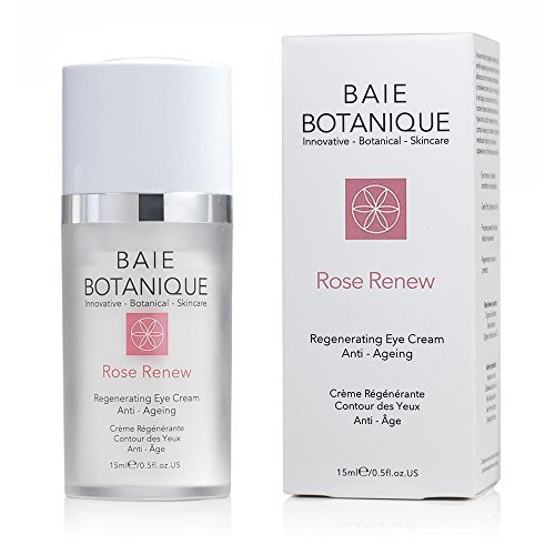 Award Winning Baie Botanique Anti Aging Eye Cream, Edelweiss Stem Cells, Low Molecular Hyaluronic Acid, Anti Wrinkle Treatment for Eyes, 100% Natural. 70% Organic.