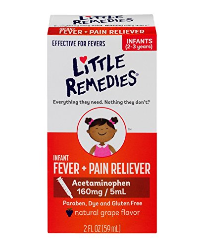 Little Remedies Infant Acetaminophen Fever/Pain Reliever, Grape Flavor, 2 Ounce (Pack of 2)