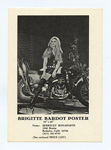 Brigitte Bardot Postcard Harley Davidson 1967 Herman Scoop