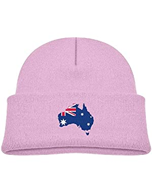 Fashion Australia-Flag-Map Printed Toddlers Baby Winter Hat Beanie